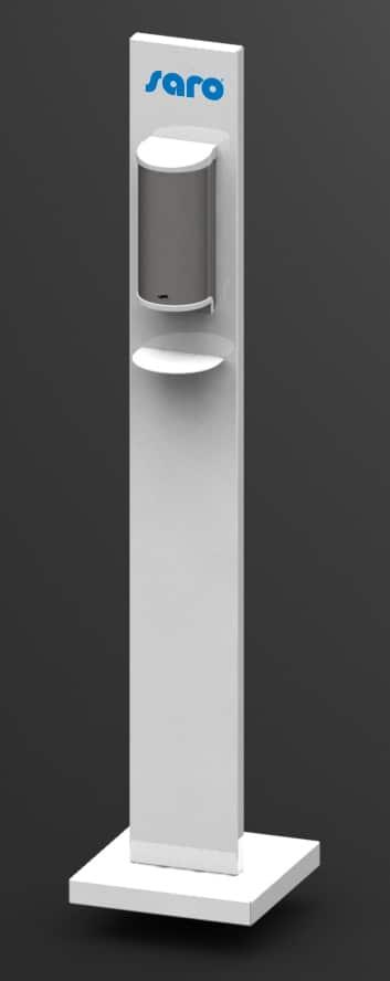 Hygiëne stand – Dispenser voor handdesinfectie (no touch) – Wit