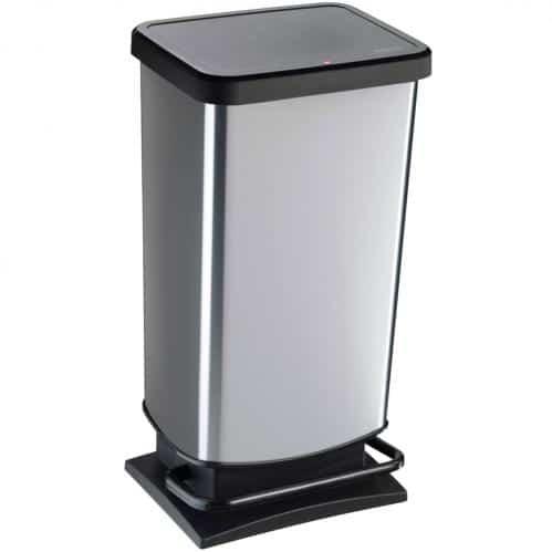 Paso Pedaalemmer 40 liter zwart/zilver