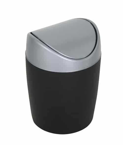Afvalbak tafel 1,5 liter zwart/grijs
