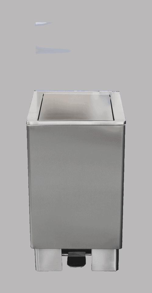 Hygiene stand – RVS afvalbak 90 L met zelfsluitende deksel – Jupiter