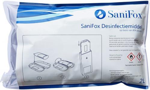 Desinfectiemiddel SaniFox Navullen 2 liter