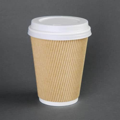 Deksel Koffiebeker Fiesta Wit – 34cl (Set van 50)