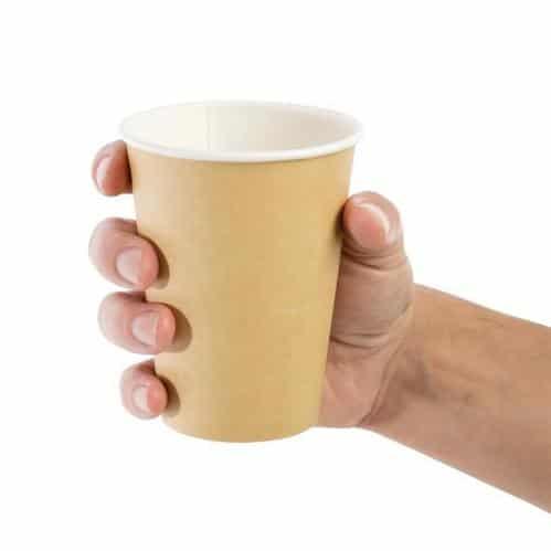 Koffiebekers Fiesta Enkelwandig – Lichtbruin 34cl (Set van 50)