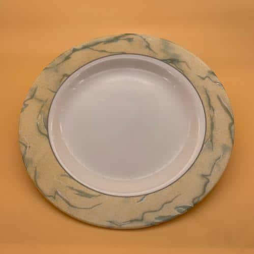 Bord Plat Geel Rand 24 Cm